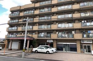 その向かいの茶色いライオンズマンションの一番左、101号室が当院です。